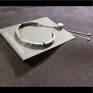 Vince Camuto Star Silver Tone Slider Bracelet